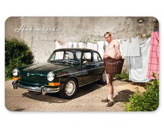 Autowaesche Brettchen VW
